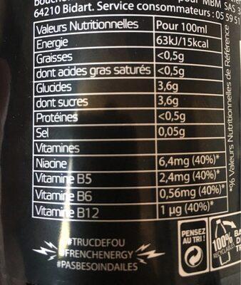 Truc de fou - Nutrition facts - fr