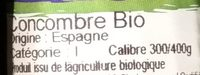 Concombre Bio - Ingrediënten - fr