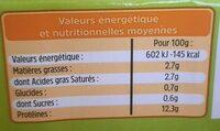 18 oeufs frais locaux - Informations nutritionnelles - fr