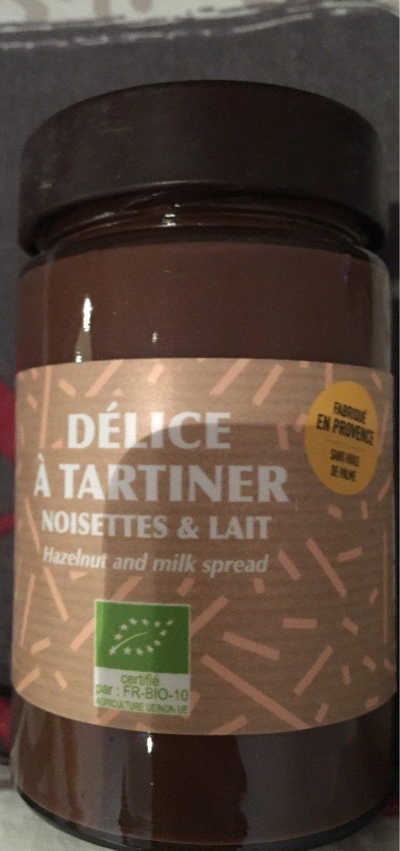 Delice à tartiner, noisettes & lait - Product - fr