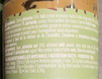 Délice à tartiner à la pistache - Informations nutritionnelles - fr