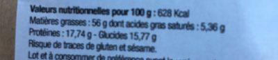 Mélange croquant vitalité - Informations nutritionnelles - fr