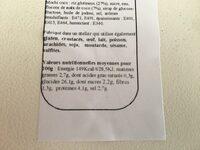Bento printemps - Nutrition facts