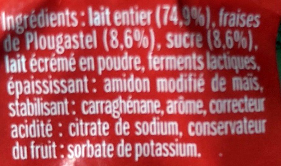 Yaourt Fraise Plougastel - Ingrédients