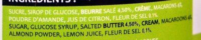 Caramel à Tartiner au Beurre Salé et Fleur de Sel Macarons - Ingredients