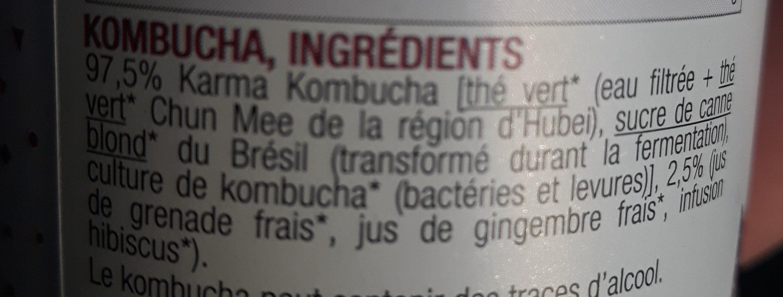 Grenade Boost - Ingrédients - fr