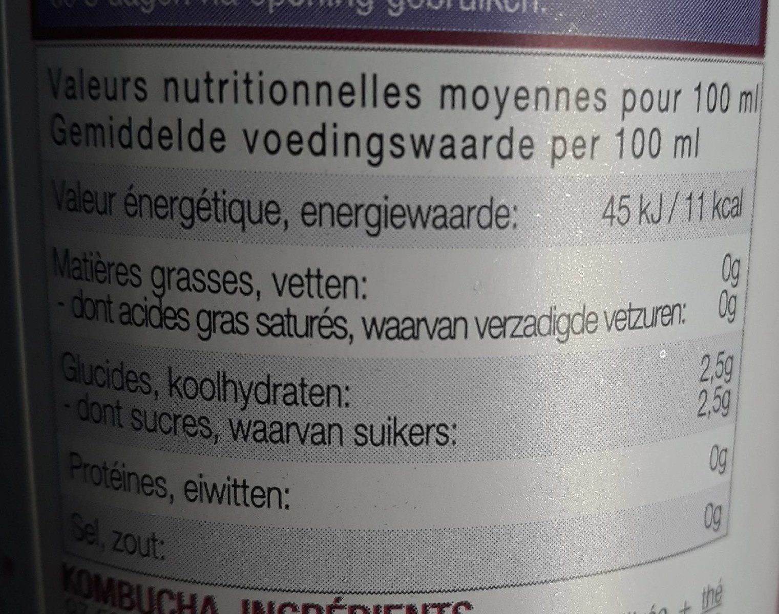 Grenade Boost - Informations nutritionnelles - fr