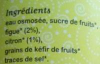 KARMA Kéfruit figue citron - Ingredients - fr