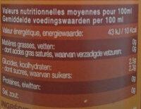 Karma botanik mangue et curcuma - Voedingswaarden - fr
