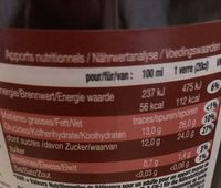 100% pur jus de Grenade - Nutrition facts - fr