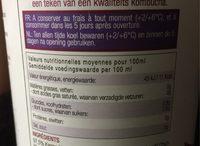 Karma kombucha Lemon - Nutrition facts