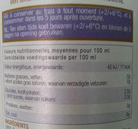 Karma kombucha Gingembre - Valori nutrizionali - fr