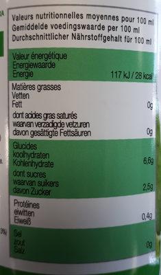 Karma Aloe vera bio & équitable nature - Nutrition facts - fr