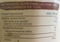 Ya avoine chocolat - Voedingswaarden - nl