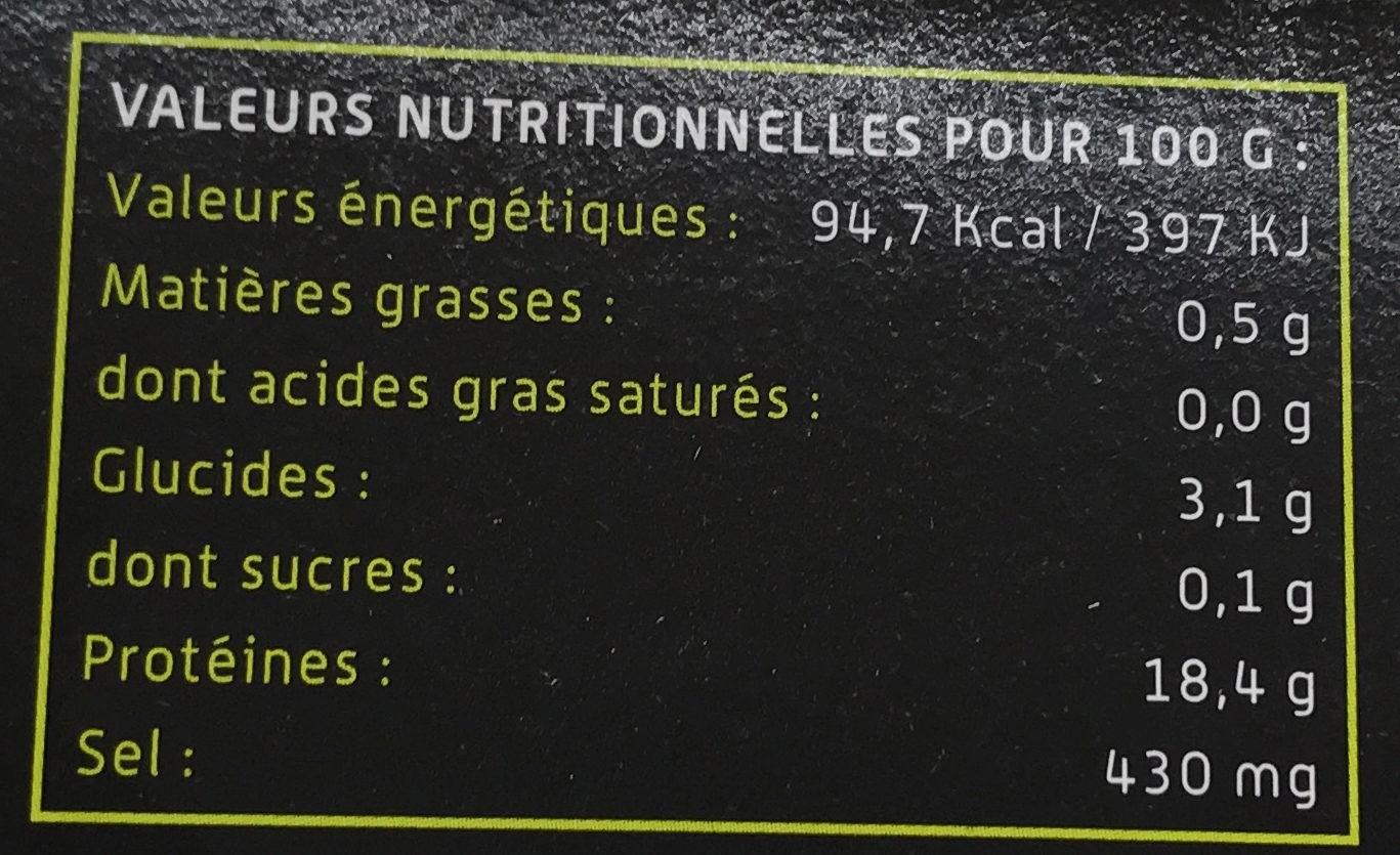 Yakiebi Citron Vert & Coriandre - Nutrition facts