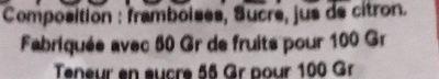 Confiture extra de framboises - Ingrediënten