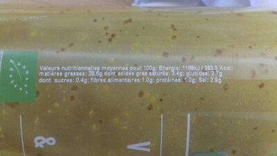 Vinaigrette mangue & baies roses - Informations nutritionnelles