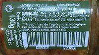 Moutarde bio saveur tomates séchées et épices fumées - Ingrédients