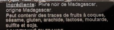 Poivre de Madagascar - Ingredients - fr