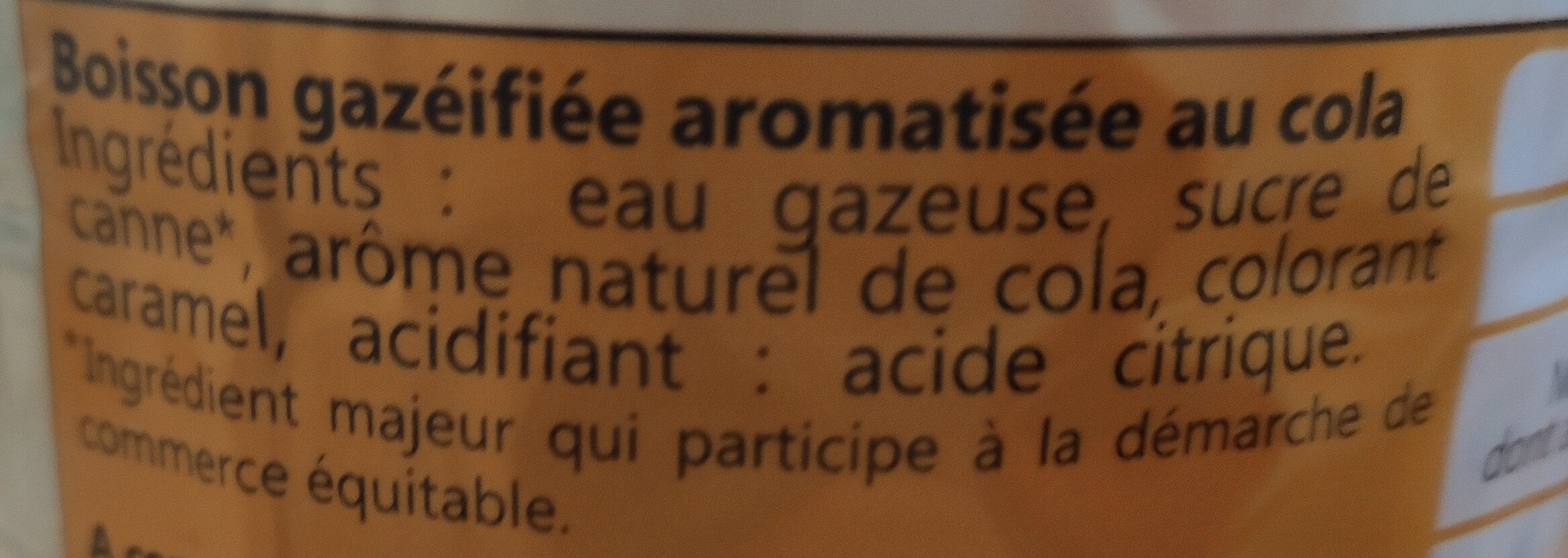 Meuh Cola - Ingrédients - fr