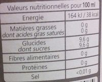Roseline - Informations nutritionnelles - fr