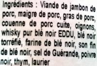 Terrine des Pays celtes - Ingrédients - fr