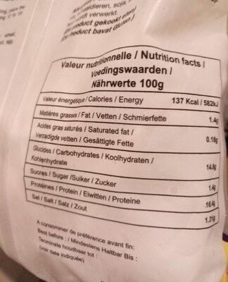 Raviolis aux crevettes - Nutrition facts - fr