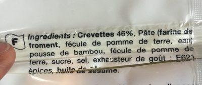 Ravioli aux crevettes - Ingredients