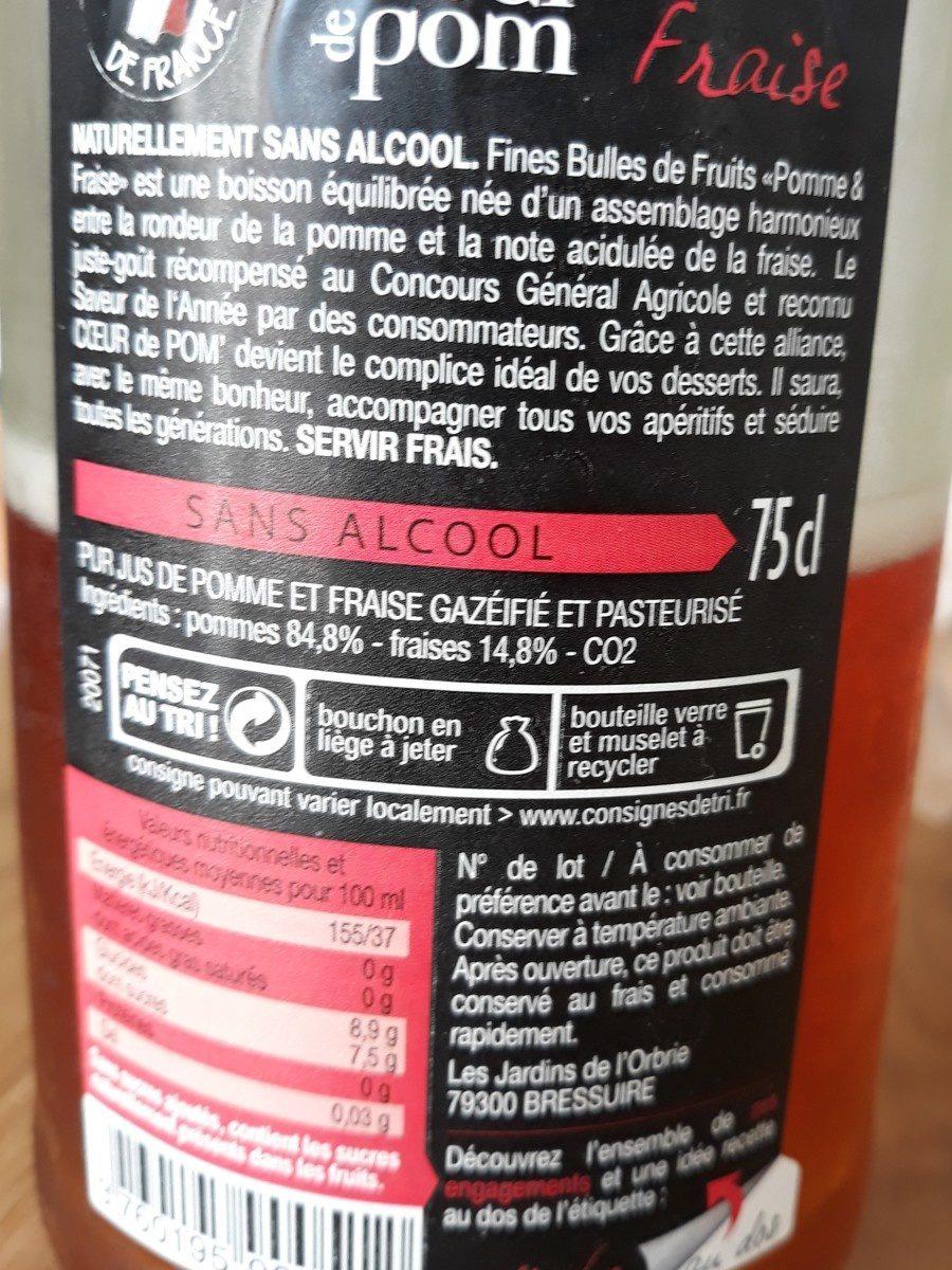 Pétillant sans alcool - Ingrediënten - fr