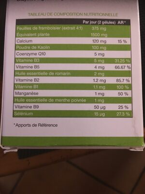 Actinutrition ventre et taille - Informations nutritionnelles - fr
