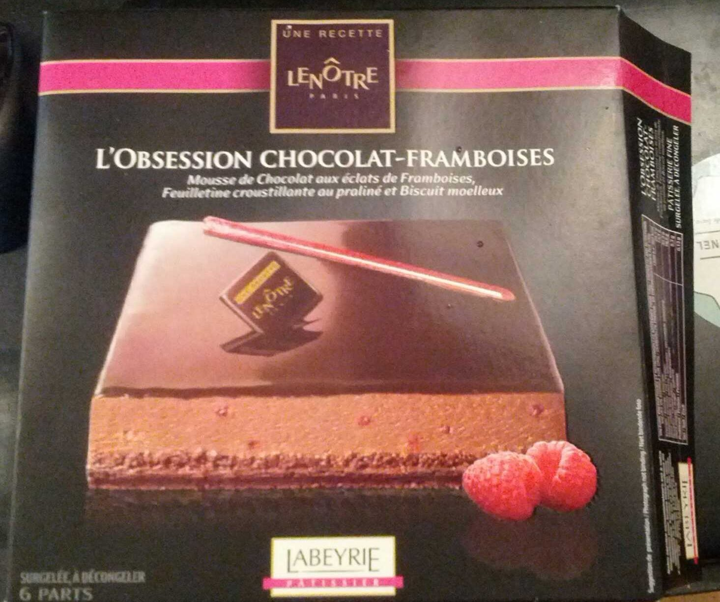 L'obsession chocolat-framboise - Product