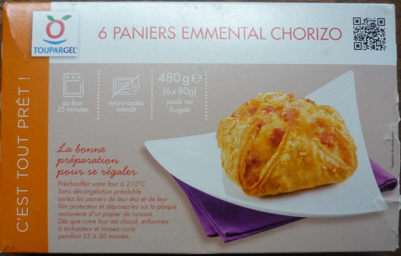 6 Paniers Emmental Chorizo - surgelé 480 g - Produit - fr