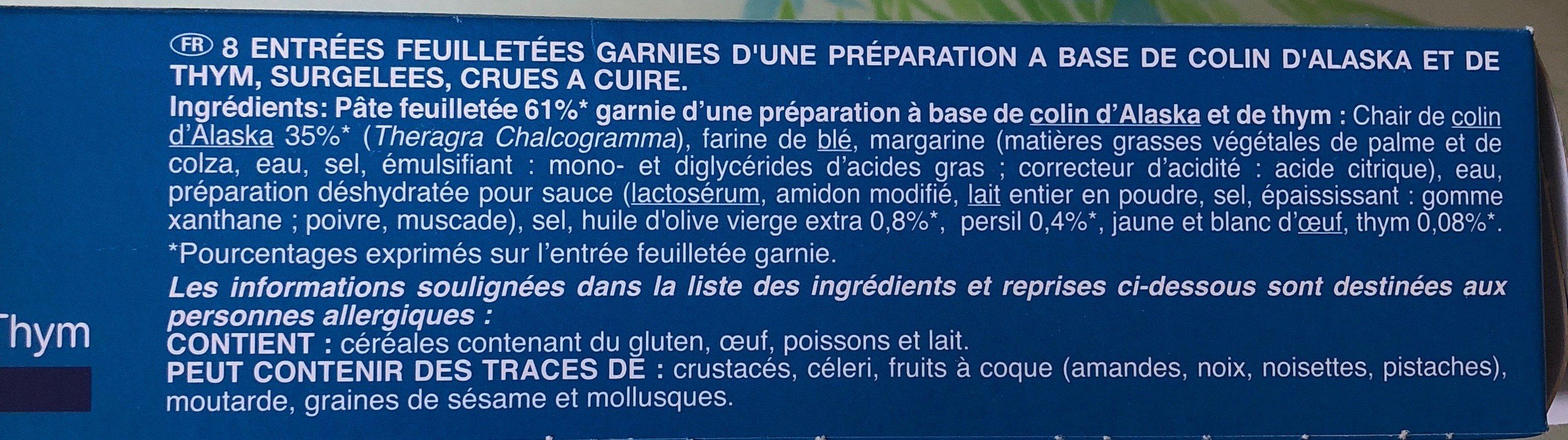 Feuilletés croustillants - Ingrédients