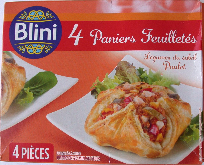 4 Paniers Feuilletés Légumes du Soleil Poulet - Produit
