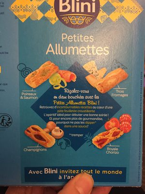 Blini les allumettes x28 - Ingredients - fr