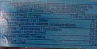 Blini les allumettes x28 - Nutrition facts - fr