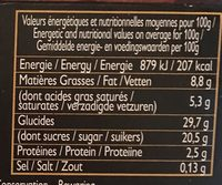 Crème glacée marron - Nutrition facts - fr