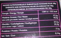 2 Cœurs Coulants au Citron - Nutrition facts - fr