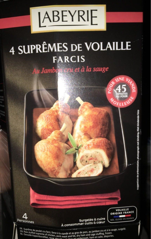 Croquette De Jambon Au Four supreme de volaille farcis - labeyrie