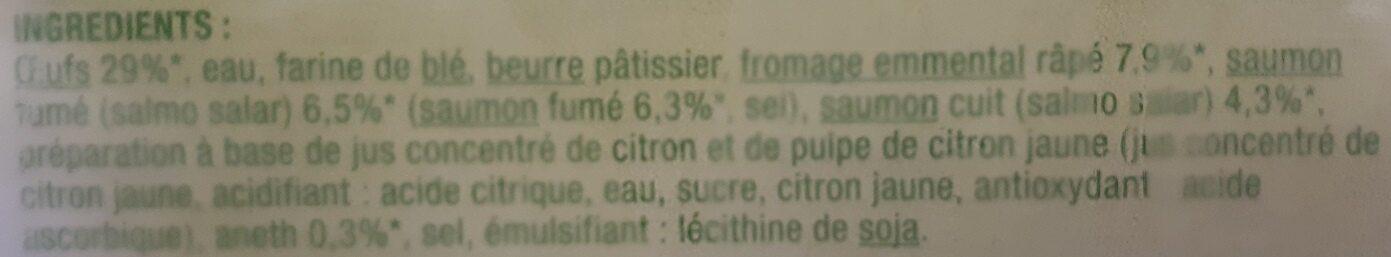 Gougères aux deux saumons - Ingrédients - fr