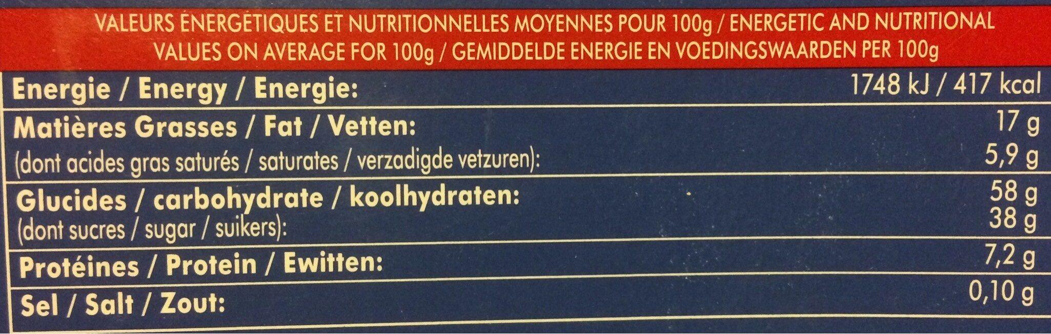 Macarons Vanille - Voedingswaarden - fr