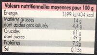 12 macarons - Voedingswaarden - fr