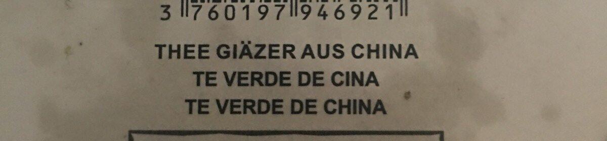 Walima thé vert de Chine - Ingredients - fr