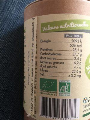 Graines germees deshydratees - Ingrediënten