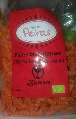 Pâtes biologiques 100% LENTILLES CORAIL - Product