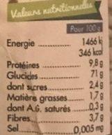 Graines de Sarrasin Décortiquées - Nutrition facts - fr