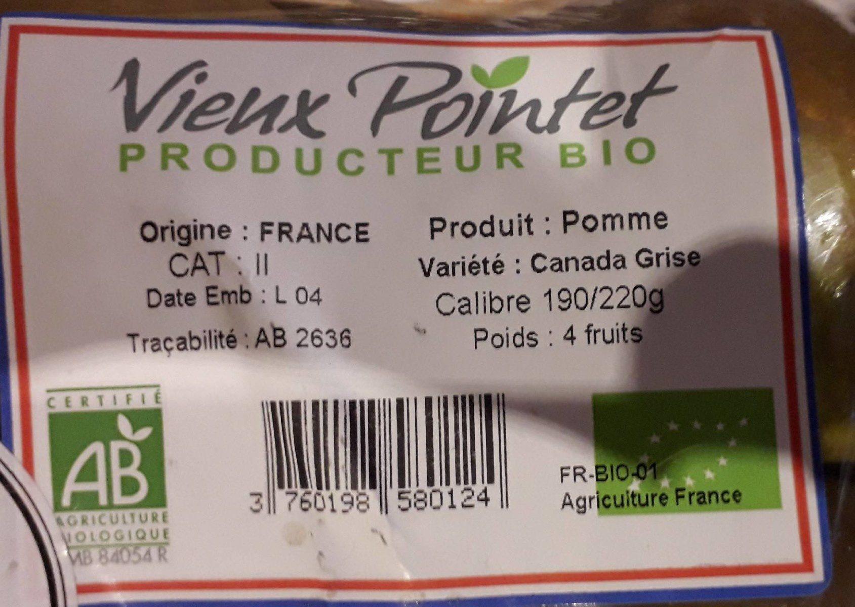 Pommes - Ingredients