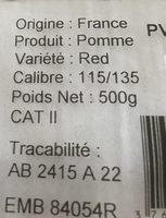 Pommes red - Ingrediënten - fr
