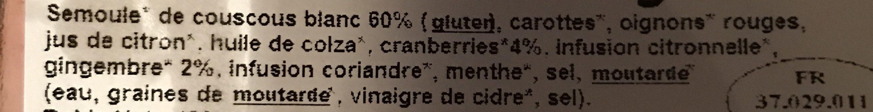 Taboule - Ingrédients