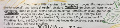 Coleslaw crudités mayonnaise - Ingrediënten - fr